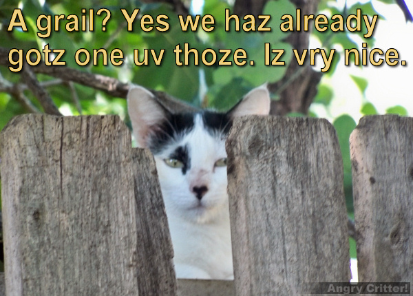 Kitteh sez we already haz grail. Iz vry nice. K thnx by.