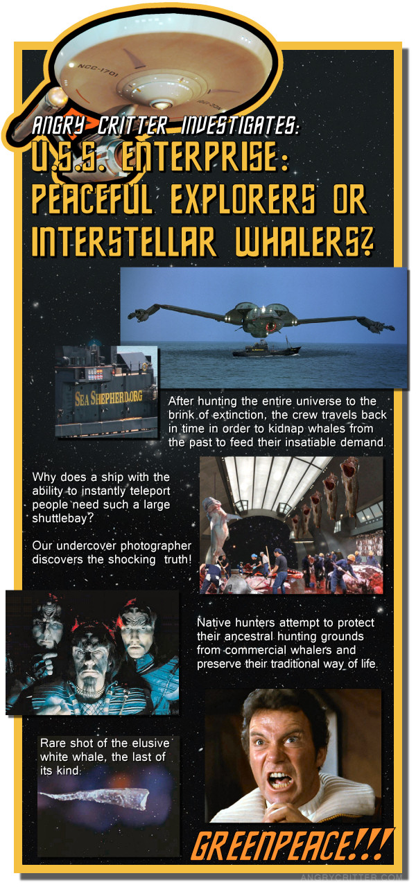 USS Enterprise; Peaceful Explorers or Interstellar Whalers?
