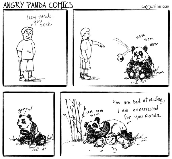 Angry Panda viciously mauls a stupid child
