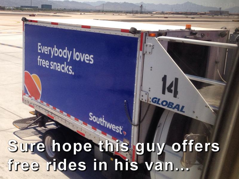 Free van ride to flavor town